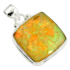 12.62cts multi color sterling opal 925 sterling silver pendant jewelry r25215