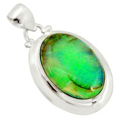11.57cts multi color sterling opal 925 sterling silver pendant jewelry r25222