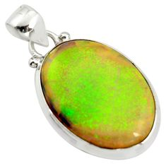 11.66cts multi color sterling opal 925 sterling silver pendant jewelry r25227