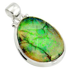 13.15cts multi color sterling opal 925 sterling silver pendant jewelry r25229