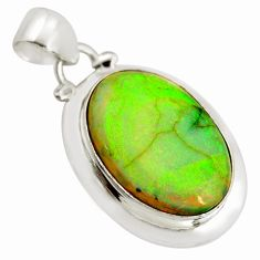 10.76cts multi color sterling opal 925 sterling silver pendant jewelry r25230