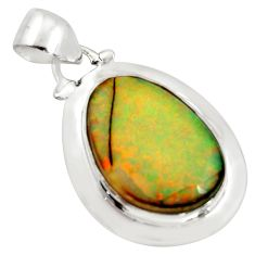 10.76cts multi color sterling opal 925 sterling silver pendant jewelry r25231