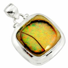 11.23cts multi color sterling opal 925 sterling silver pendant jewelry r25234