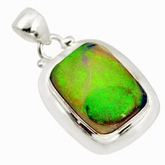 9.99cts multi color sterling opal 925 sterling silver pendant jewelry r25235