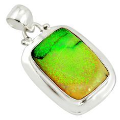 12.06cts multi color sterling opal 925 sterling silver pendant jewelry r25239