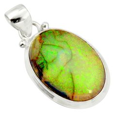 10.79cts multi color sterling opal 925 sterling silver pendant jewelry r25246