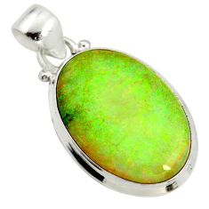 10.75cts multi color sterling opal 925 sterling silver pendant jewelry r25250