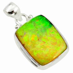11.74cts multi color sterling opal 925 sterling silver pendant jewelry r25254
