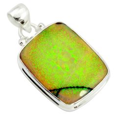 13.66cts multi color sterling opal 925 sterling silver pendant jewelry r25257