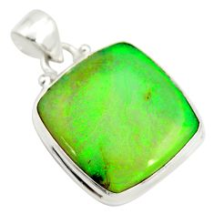 13.66cts multi color sterling opal 925 sterling silver pendant jewelry r25259