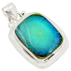 10.76cts multi color sterling opal 925 sterling silver pendant jewelry r25261