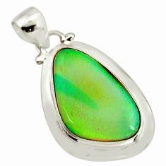 10.79cts multi color sterling opal 925 sterling silver pendant jewelry r25269