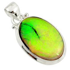 9.25cts multi color sterling opal 925 sterling silver pendant jewelry r25274