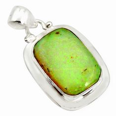11.25cts multi color sterling opal 925 sterling silver pendant jewelry r25275