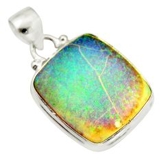 9.80cts multi color sterling opal 925 sterling silver pendant jewelry r25278