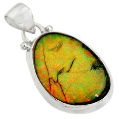 10.28cts multi color sterling opal 925 sterling silver pendant jewelry r25283