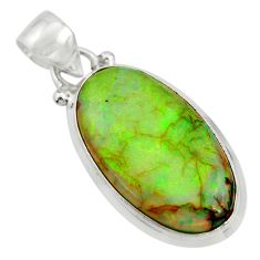 10.79cts multi color sterling opal 925 sterling silver pendant jewelry r25285