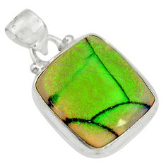 10.30cts multi color sterling opal 925 sterling silver pendant jewelry r25290