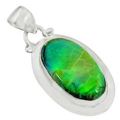 10.19cts multi color sterling opal 925 sterling silver pendant jewelry r25292