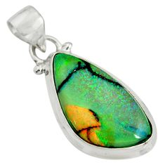 8.90cts multi color sterling opal 925 sterling silver pendant jewelry r25293