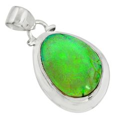 10.79cts multi color sterling opal 925 sterling silver pendant jewelry r25295