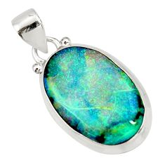 10.28cts multi color sterling opal 925 sterling silver pendant jewelry r27367