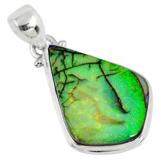 9.77cts multi color sterling opal 925 sterling silver pendant jewelry r58741