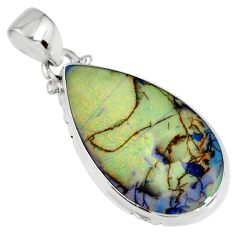 9.80cts multi color sterling opal 925 sterling silver pendant jewelry r58746