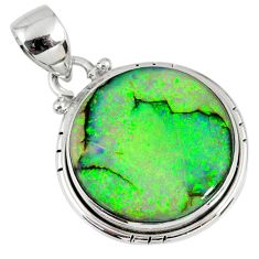 10.28cts multi color sterling opal 925 sterling silver pendant jewelry r58750