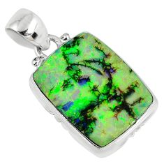 9.80cts multi color sterling opal 925 sterling silver pendant jewelry r58755