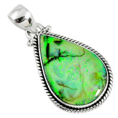8.26cts multi color sterling opal 925 sterling silver pendant jewelry r58765