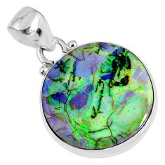 8.26cts multi color sterling opal 925 sterling silver pendant jewelry r58775