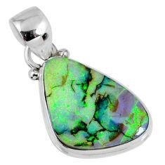 7.56cts multi color sterling opal 925 sterling silver pendant jewelry r58782