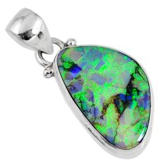 7.42cts multi color sterling opal 925 sterling silver pendant jewelry r58783
