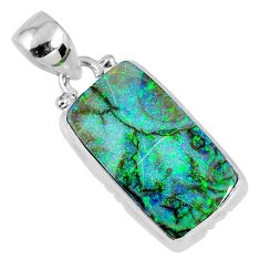 7.97cts multi color sterling opal 925 sterling silver pendant jewelry r58785