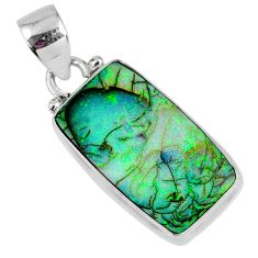 7.97cts multi color sterling opal 925 sterling silver pendant jewelry r58787