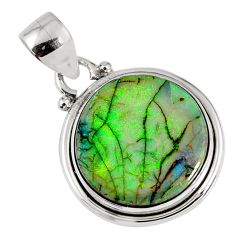8.32cts multi color sterling opal 925 sterling silver pendant jewelry r58792