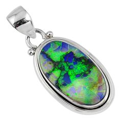 8.26cts multi color sterling opal 925 sterling silver pendant jewelry r58793