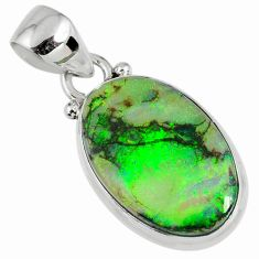 7.93cts multi color sterling opal 925 sterling silver pendant jewelry r58797