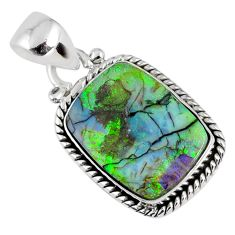 8.56cts multi color sterling opal 925 sterling silver pendant jewelry r58801