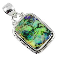 8.84cts multi color sterling opal 925 sterling silver pendant jewelry r58802