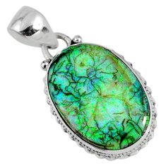 9.83cts multi color sterling opal 925 sterling silver pendant jewelry r58806