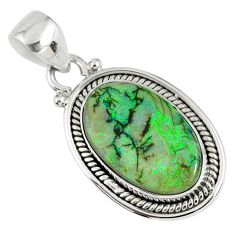 8.26cts multi color sterling opal 925 sterling silver pendant jewelry r58807