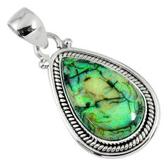 8.80cts multi color sterling opal 925 sterling silver pendant jewelry r58817