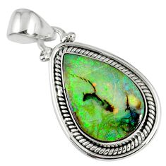 8.07cts multi color sterling opal 925 sterling silver pendant jewelry r58818