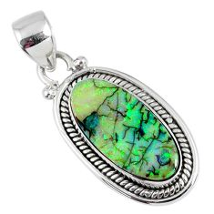 7.00cts multi color sterling opal 925 sterling silver pendant jewelry r58825