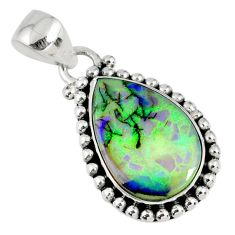 6.83cts multi color sterling opal 925 sterling silver pendant jewelry r58826