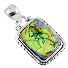 8.09cts multi color sterling opal 925 sterling silver pendant jewelry r58830