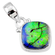 3.60cts multi color sterling opal 925 sterling silver pendant jewelry r64321