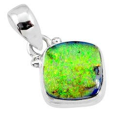 3.60cts multi color sterling opal 925 sterling silver pendant jewelry r64322